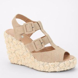 NEW UO x Kimchi blue floral lace wedge sandal
